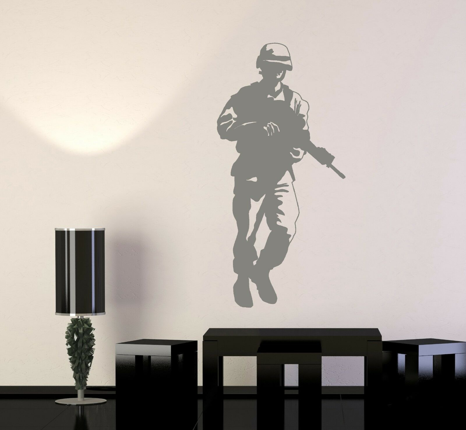 Wand Vinyl Soldier Rifle M16 Military War Army Cool Decal (z3421)
