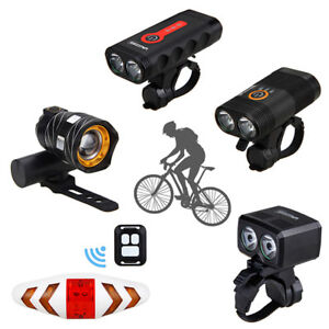 USB Rechargeable 15000LM XML T6 LED Bicycle Light Bike Front Headlight Rear Lamp