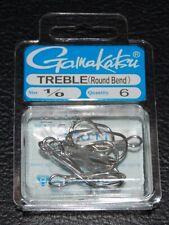 Gamakatsu Treble Hook Round Bend Size 4 8117 11 Per pack