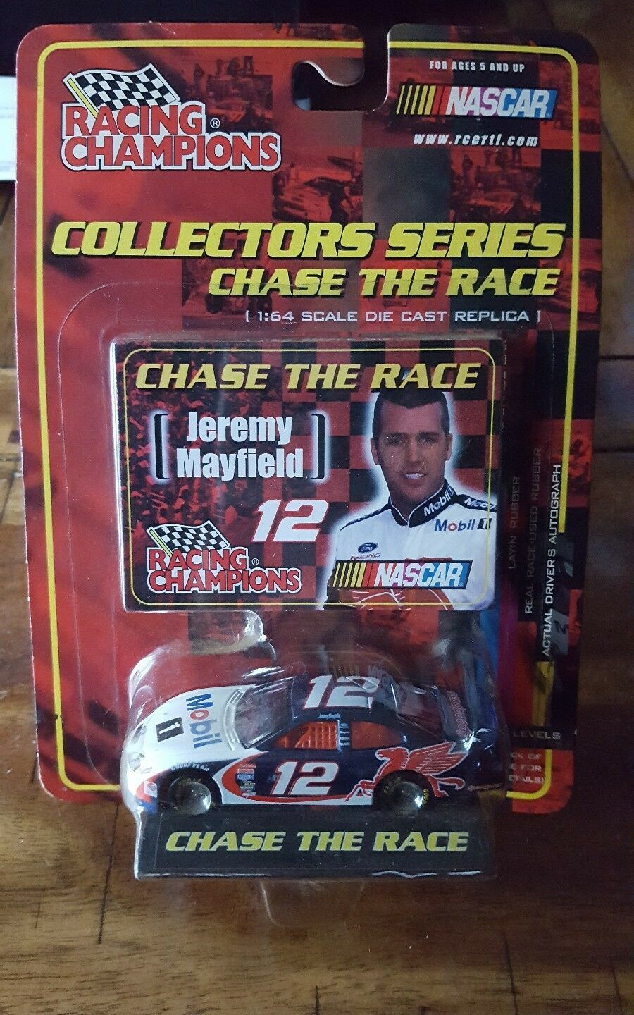 RACING CHAMPIONS COLLECTORS SERIES JEREMY MAYFIELD 1 64 SCALE WITH COLLECTOR