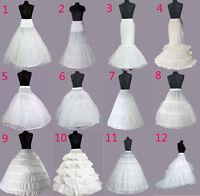 UK WEDDING BRIDAL DRESS PROM PETTICOAT HOOPS UNDERSKIRT CRINOLINE REGULAR WAIST