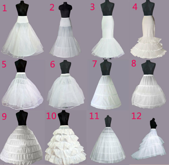 WEDDING PETTICOAT BRIDAL DRESS PROM  HOOPS UNDERSKIRT CRINOLINE REGULAR WAIST
