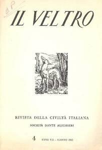 2019 DernièRe Conception Il Veltro. Agosto 1963 100% De MatéRiaux De Haute Qualité
