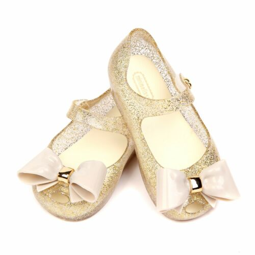 UK Kids Mini Melissa Butterfly Bow Saturn Girl Jelly Shoes Neptune Sandals Size