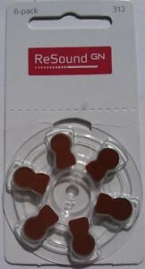 Resound-Size-312-Hearing-Aid-Battery-Brown-Tab-Various-Pack-Size