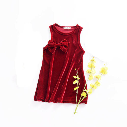 1pc Toddler kids dress girls baby party wedding party dress summer velvet dress
