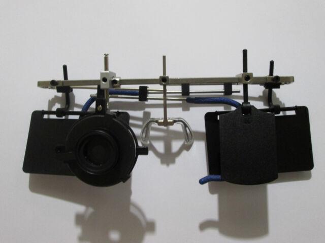 Gehmann Adjustable Shooting Glasses Frame 37mm Pistol w/Iris Blinders BLACK