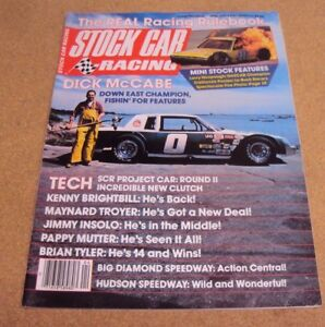 Agressif Stock-car Racing Magazine Avril 1983 Dick Mccabe Brian Tyler Larry Hoopaugh