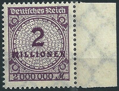 """315awa Mit Prüfzeichen """"a"""" Vom Linken Seitenrand Postfrisch Moderate Kosten Treu Korbdeckel Minr Deutschland Deutschland Vor 1945"""
