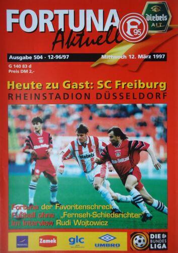 SC Freiburg Programm Bundesliga 1996//97 Fortuna Düsseldorf