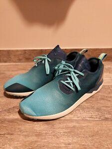54ba523987161 NEW! Adidas ZX Flux ADV Asymmetrical Blue Training Shoes - S79056 ...
