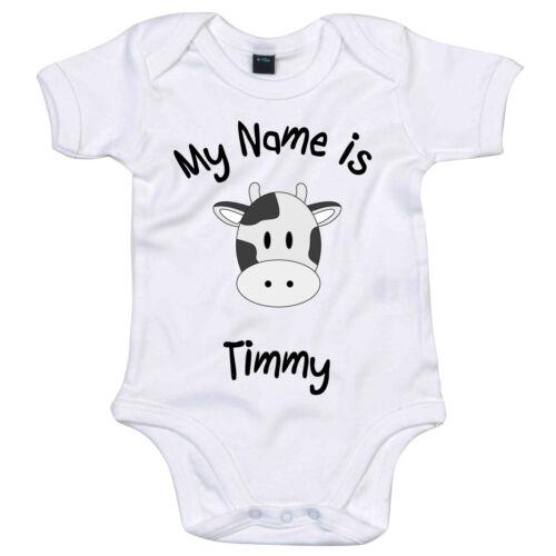 Moo vache personnalisé bébé grandir body cute animal head nouveau né cadeau douche