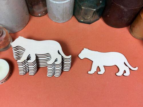 Láser De Corte Madera Recortes Artesanía En Blanco Forma De Madera Lioness formas 10cm X10