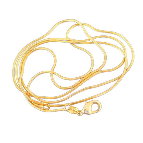 Unisex Gold Plated Long Snake Chain Necklace Party Club Jewelry Accessories Gift