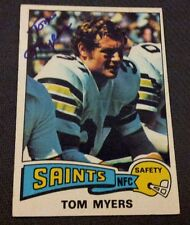 Autographed Tom Myers 1975 Topps Card #191 New Orleans Saints Syracuse Orange