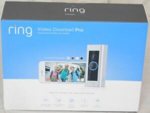 RING Video Doorbell PRO WiFi 1080P HD Motion Detection 2-Way Audio 4 Faceplates