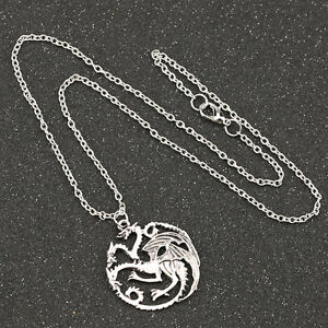Game Of Thrones Dragon Necklace Song Of Ice And Fire Vintage ... 418e80a6ecbf
