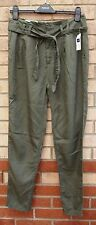 GAP KHAKI GREEN BELTED HAREM BAGGY MILITARY CASUAL TROUSERS PANTS 10
