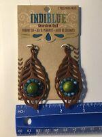 Indi Blue Genevieve Gail 2 Pc. Feather Pendant Antique Bronze Jewelry
