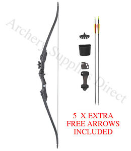 """68/"""" Take Down Target Archery Recurve Bow Set for Adults Target /& Stand FULL PACK"""