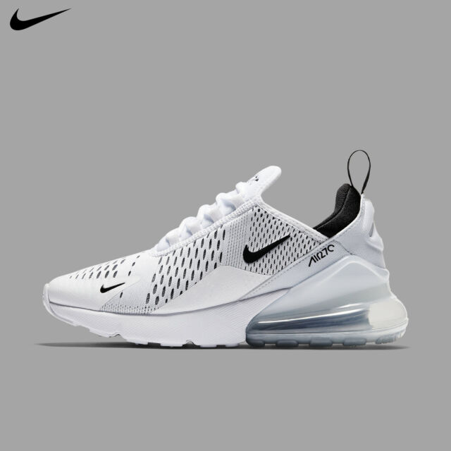 Nike Women's Air Max 270 White Black 2019 Running Gym Training New AH6789 100