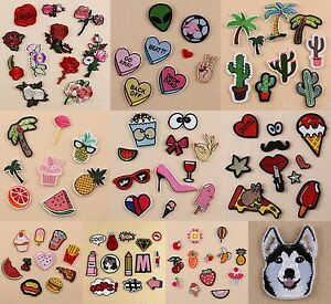 iron on patch embroidered clothes fabric sticker badge applique