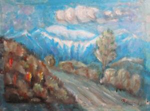 Vintage-post-impressionist-oil-painting-mountain-landscape-signed
