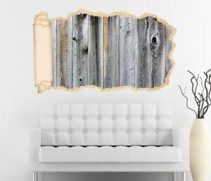 Détails sur 3D Sticker Mural Bois Gris Planche Aspect Papier Peint  Autocollant Peinture