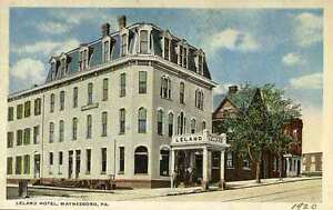 Image Is Loading 1922 Waynesboro Pa Early Leland Hotel Postcard
