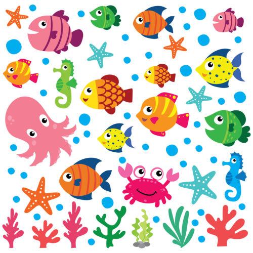 pépinière Décorations Sea Life enfants autocollants muraux À faire soi-même Art