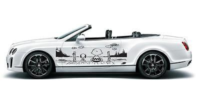 Snoopy & Woodstock Side Door Car Decal Race Sports Tribal Grpahic Sticker B80