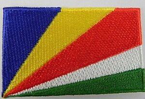 Seychellen-Aufnaeher-gestickt-Flagge-Fahne-Patch-Aufbuegler-6-5cm-neu