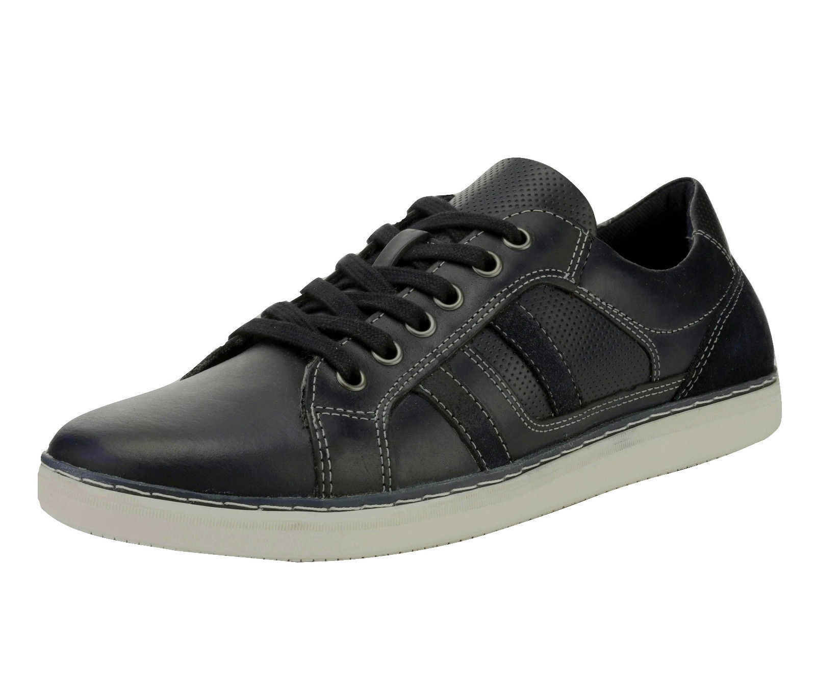 new Leather MEN'S Red Tape CUMBER Leather new Italian Style Casual Shoes Navy UK size 9 eb8c42