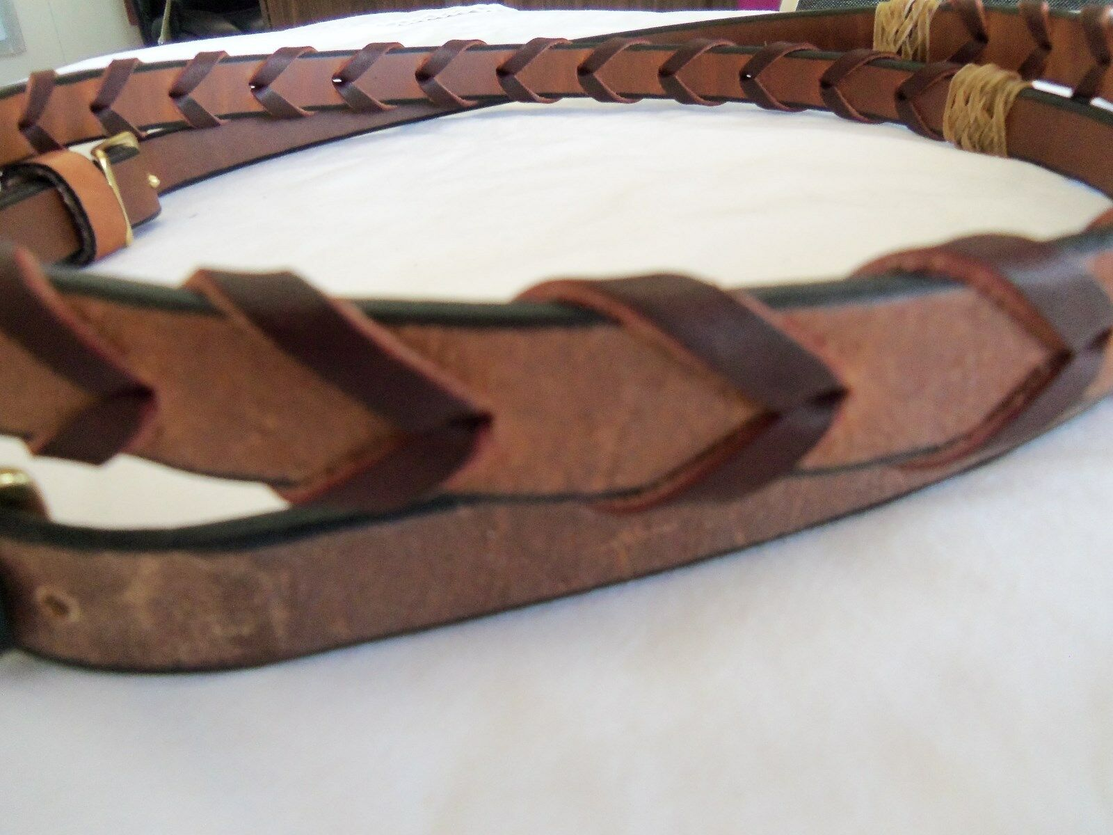 CONTEST LEATHER LATIGO LACED REINS--RAWHIDE-BRASS HARDWARE-NEW WITH WITH WITH TAGS 4bc8f8