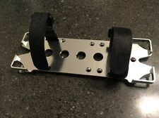 KYX Aluminum Silver Battery Mounting Plate w/adjustable strap Axial SCX10 4X4