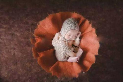 Newborn Baby Photography Photo Props Basket Stuffer Flower Circular Blanket Good