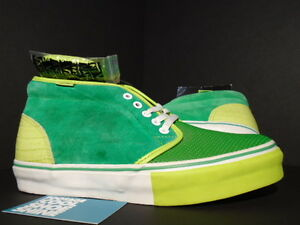 2008 VANS CHUKKA BOOT LX KICKS HI HAWAII 3 FEET HIGH FERN LIME GREEN ... 731c028dd