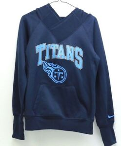 online store bf4f7 8ce18 Details about Women's NIKE Dri Fit NFL Tennessee Titans Pullover Hoodie  #536696 Size Small