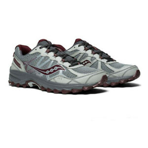 Saucony Mens Excursion TR11 Running Shoe Black Grey Sports Breathable