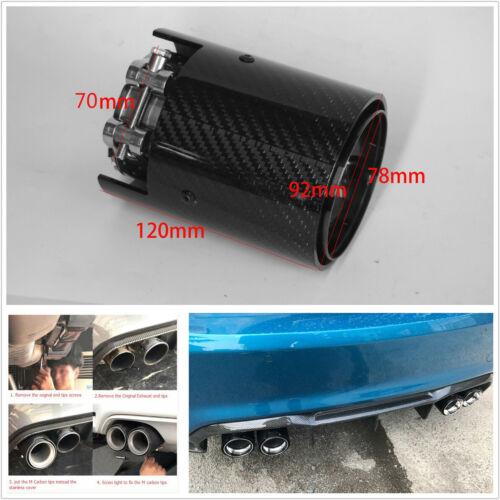 70mm-92mm Car Carbon Fiber Exhaust Tip Pipe For BMW M2 F87 M3 F80 M4 M5 F10 M6