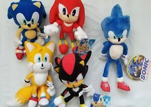 Sonic-Stuffed-Toy-Figure-Plush-Set-Sonic-Shadow-Tails-Knuckles-8-12-034-New