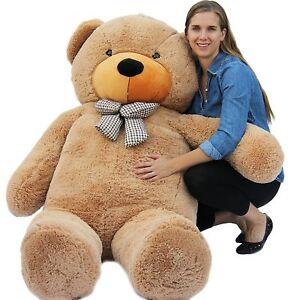 "Joyfay 78""  6.5ft Giant Teddy Bear 200cm Brown Huge Plush Toy Christmas Gift"