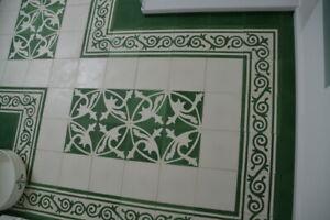 Détails sur Motif Paquet ciment carrelage sol-Carrelage Mosaïque Décoration  mondial Vert Blanc Salle de Bain- afficher le titre d\'origine