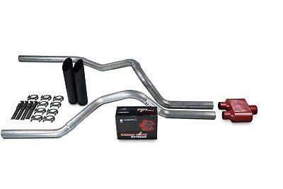 """Chevy GMC CK1500 CK2500 88-95 2.5/"""" Dual Exhaust 2 Chamber Muffler weld on tips"""