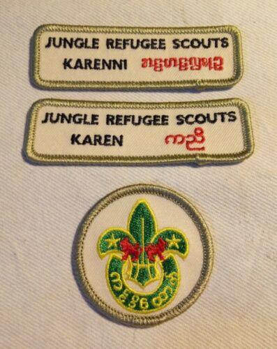 Burma Myanmar badges Karenni patch lot BSA Jungle Refugee Scouts Karen