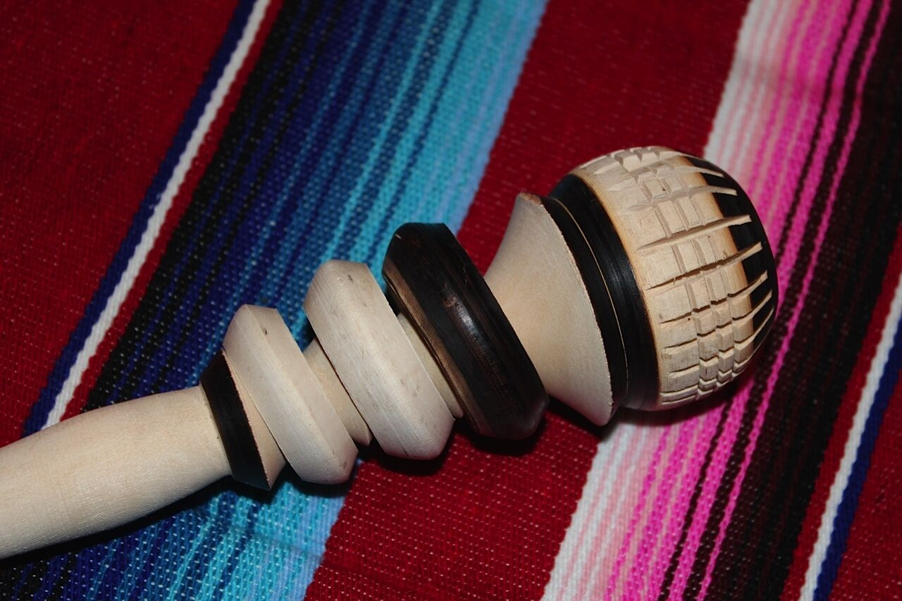 WOODEN WHISK STIRRER MOLINILLO MEXICAN CHOCOLATE COCOA