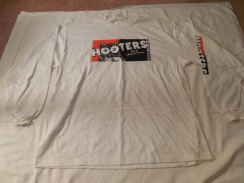 NEW LOT 2 MENS GRAB BAG COTTON WHITE LNG SLEEVE T-SHIRT 20TH ANN INDIANAPOLIS XL
