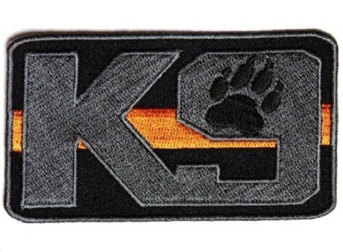 "4603 K9 ORANGE LINE Search /& Rescue 3.5/"" x 2/"" iron on patch F5"