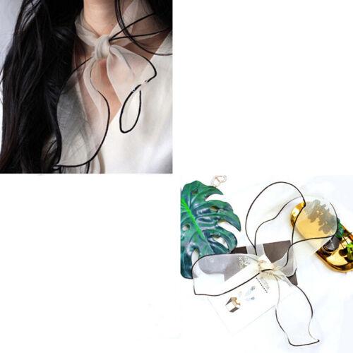 Temperament Korean Styles Sweet Girls Organza Short Neck Wrap Scarf Summer D