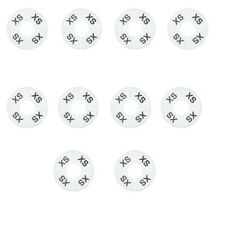10 Pc Xs X Small White Round Clothing Rack Size Dividers Plastic Hangers Ring